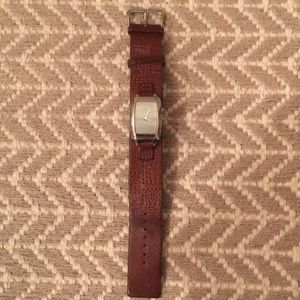 Women's Leather Fossil Watch